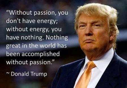 Put passion in everything you do/ Donald Trump