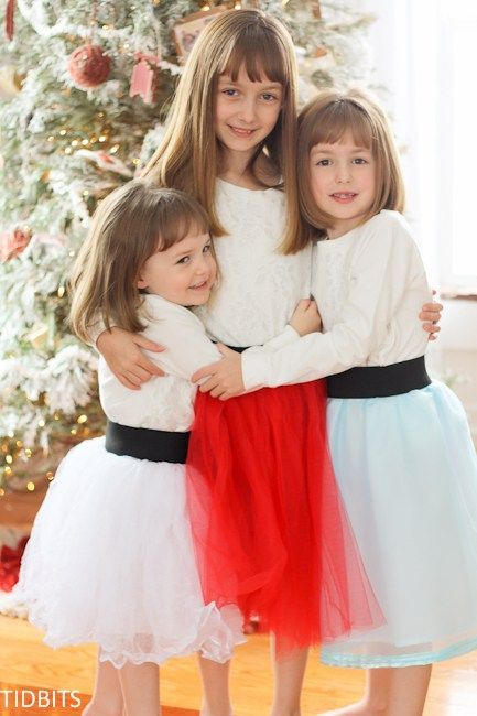 e5fc90ede5 Tulle Skirt with a Wide Elastic Waistband (Version - Tidbits. When you have  3 girls, and they all want a skirt, it is important to mix things up a  little ...