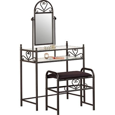 ORE Furniture Victoria Vanity Set with Mirror & Reviews