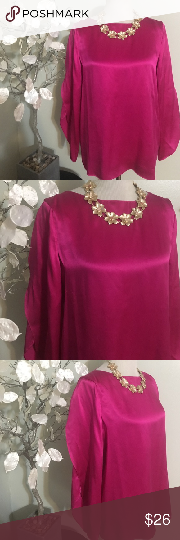 TALBOTS SILK TOP Gorgeous top in excellent condition, 100% silk Talbots Tops Blouses