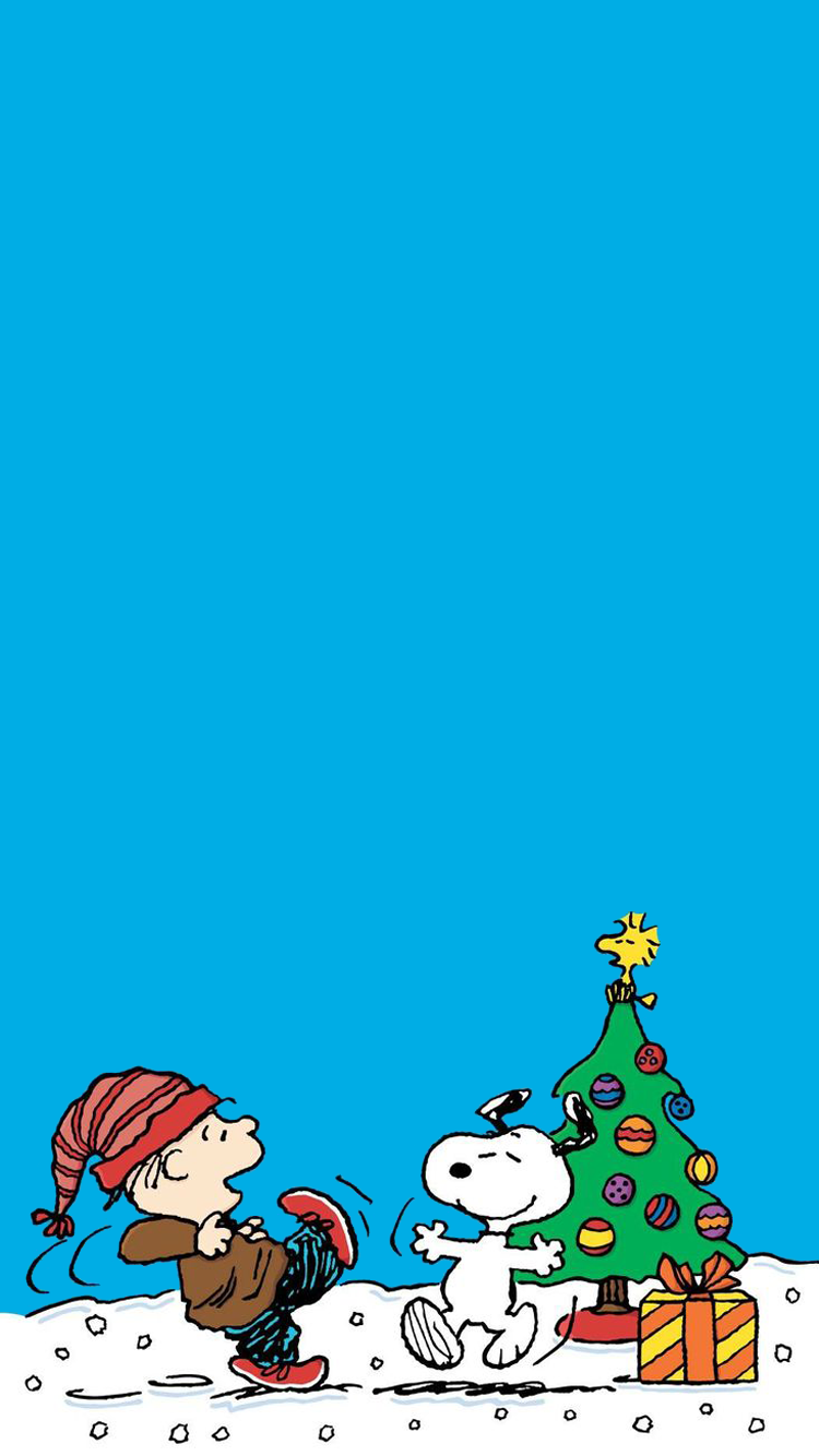 아이폰 크리스마스 스누피 일러스트 배경화면 Wallpaper Iphone Christmas