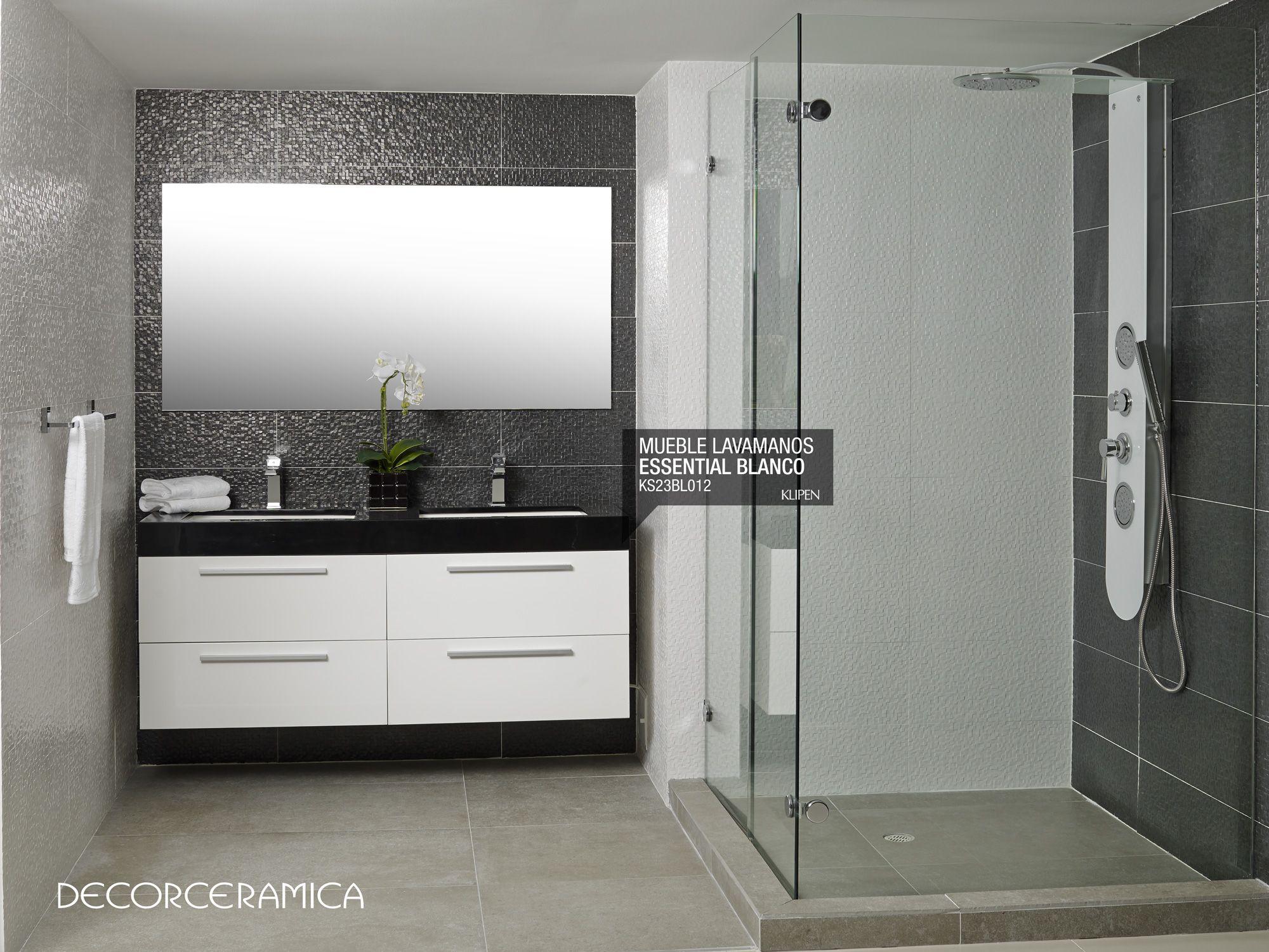 Mueble Lavamanos Essential Blanco Negro De Klipen El Confort Y  # Muebles Easy Bogota
