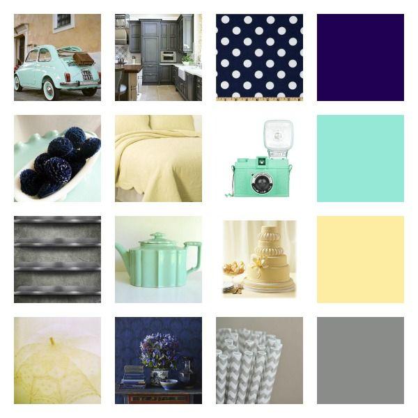Dreamy Bedroom Color Palettes: Navy And Mint Color Palette