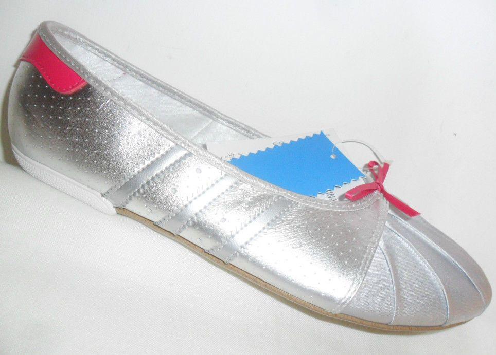 a701be91bd0 Adidas Superstar Ballerina Silver Womens Ballet Pumps Dance Shoes UK Size  5.5