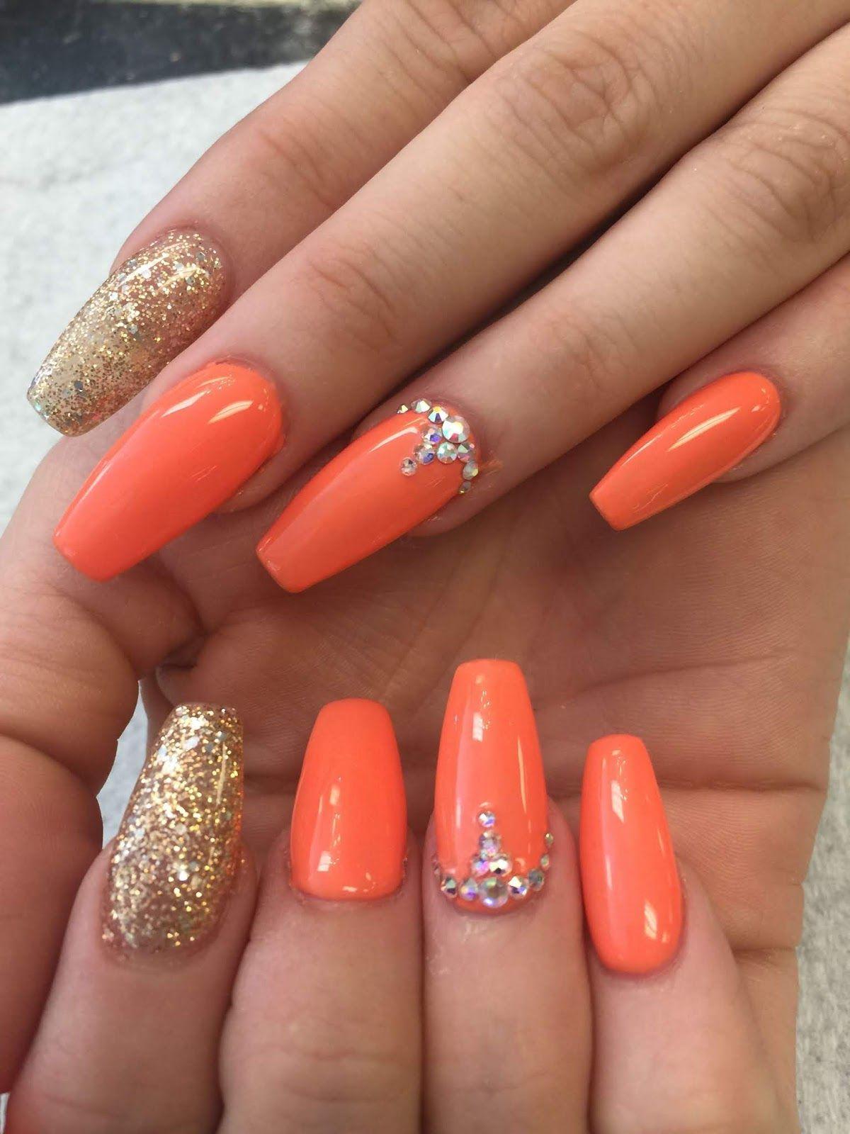 22+ Nail Ideas Orange , Nail Designs in 2020
