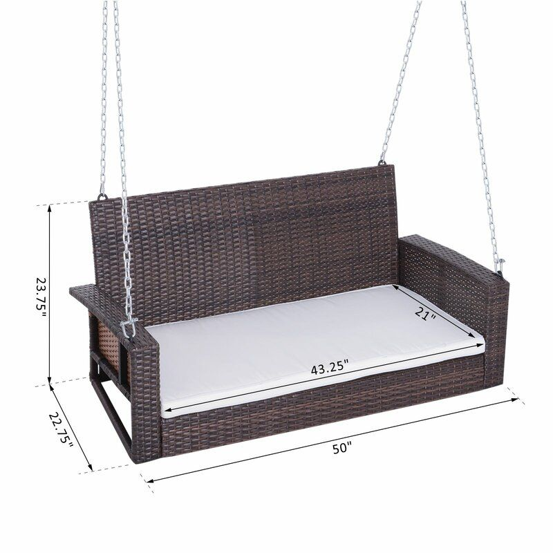 Topsham Porch Swing in 2020 Hanging porch swing, Porch