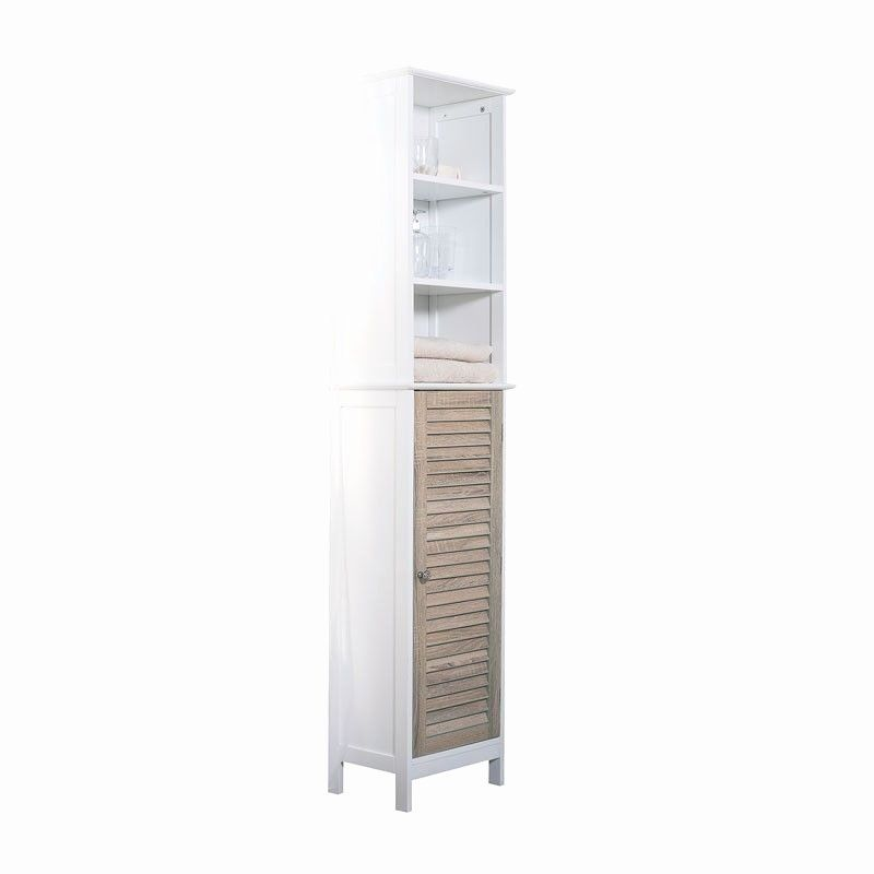 Bathroom Furniture Jysk Awesome Caja Tall Cabinet White For My Home
