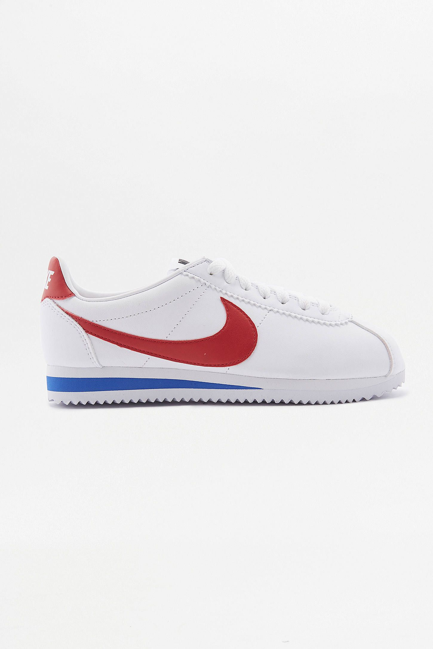 info for 0c25f 75b74 Slide View 2 Nike Cortez White Red And Blue Leather Trainers