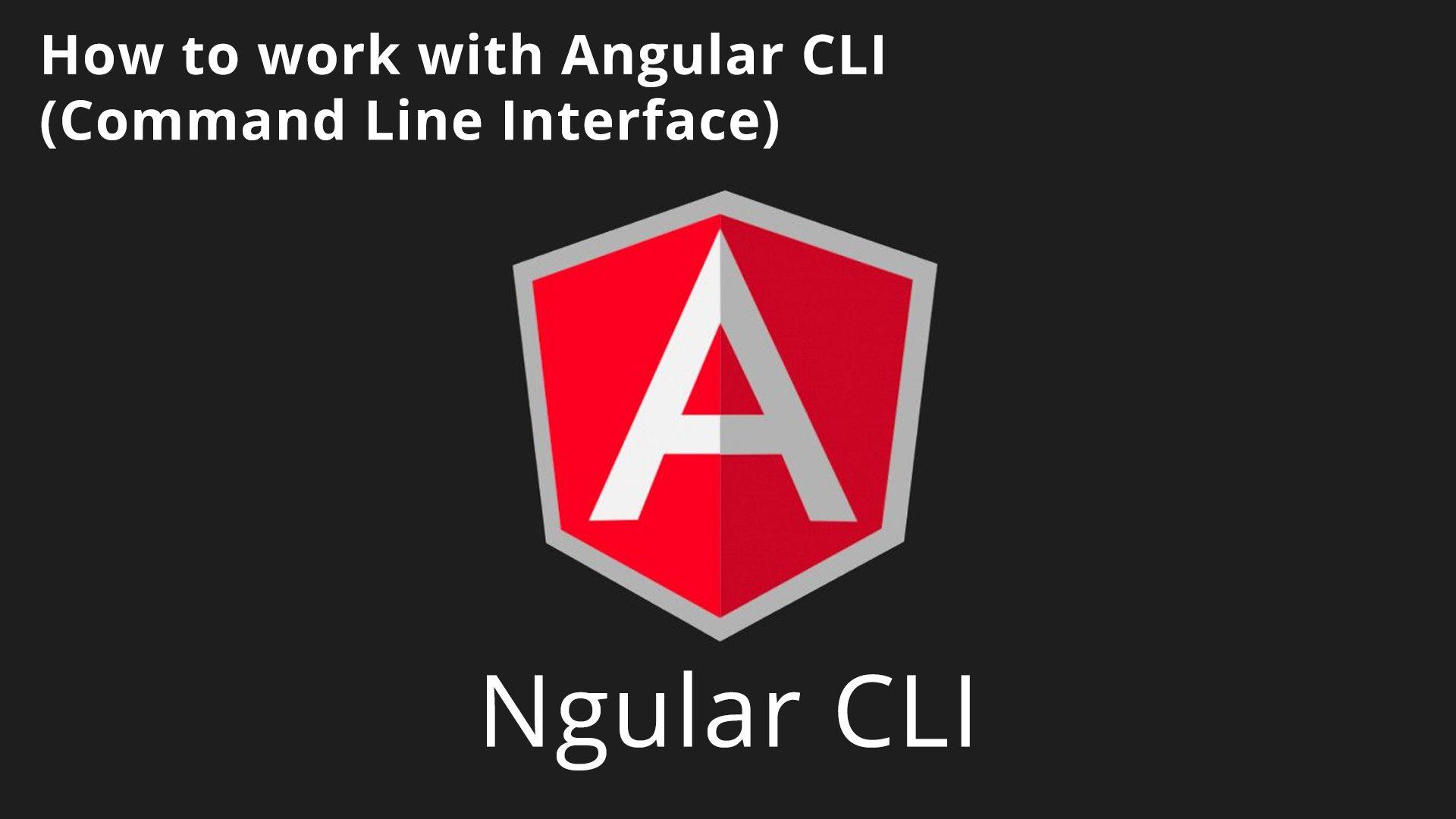 angular version command