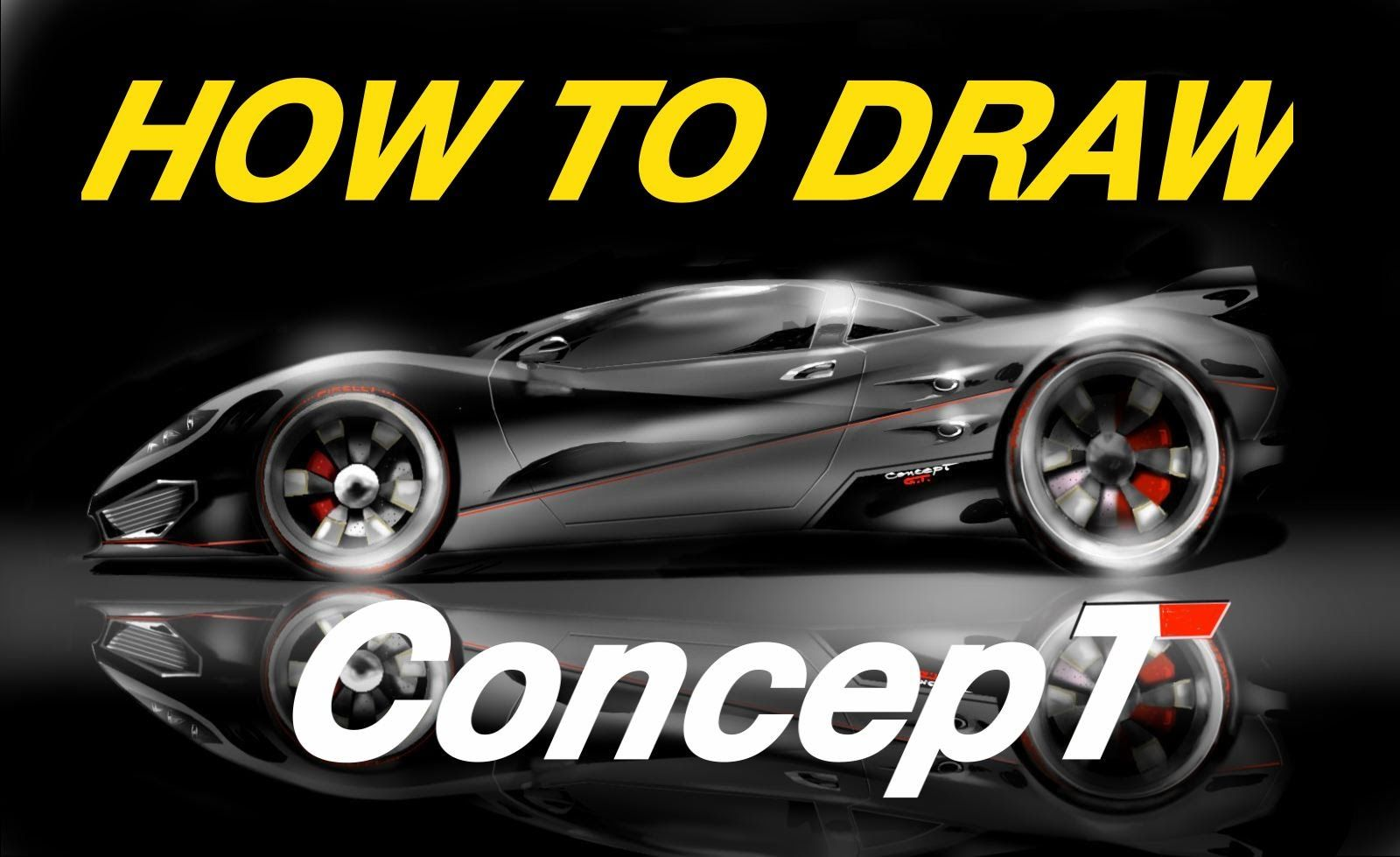 HOW TO DRAW - CONCEPT - sport car-Hypersport Car - Sketchbook TIME LAPSE...