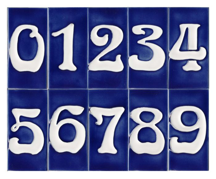Decorative Tile House Numbers Nouveau House Number Tile Blue  Çini  Pinterest  Number House