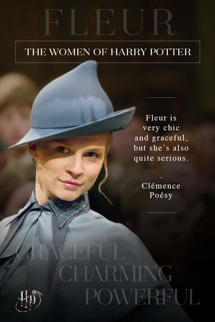 Clemence Poesy On Fleur Delacour Celebrate International Women S Day With Quotes From The Wo Harry Potter Film Harry Potter Universal Harry Potter Collection