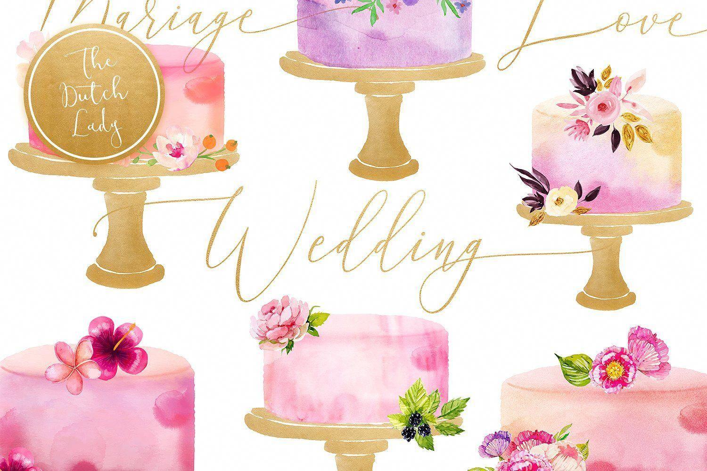 Watercolor Wedding Cake Clipart Largest Pixels Image Side