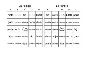 For A Limited Time  Bingo Cards Printed  Per Page To Practice  Family Vocabulary Words Includes Word List Students Will Love This