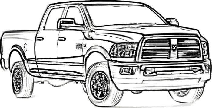 Dodge Pickup Coloring Page