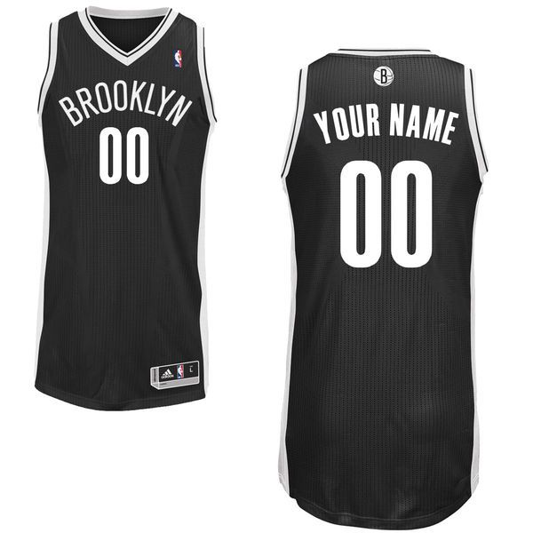 Brooklyn Nets adidas Custom Authentic Road Jersey - Black -  174.99 ... c71213349