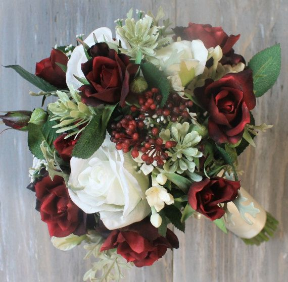 Burgundy Wedding Flower Bouquet: Burgandy Wedding Bouquet Burgandy Bouquet By