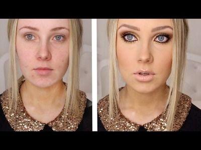 Photo of GOLD GLITTER + BRONZE Makeup Tutorial!