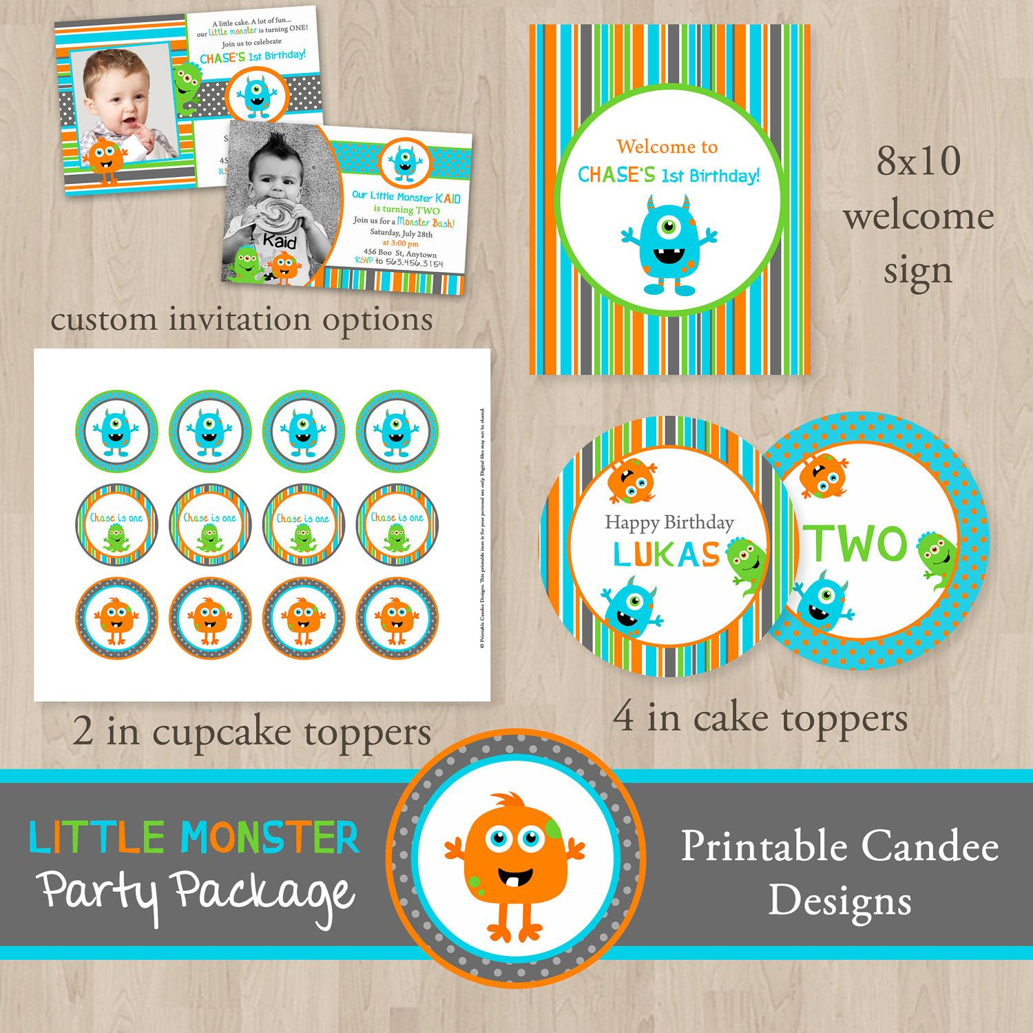 DIY Little Monster Birthday Party Package - Printable. $30.00, via ...