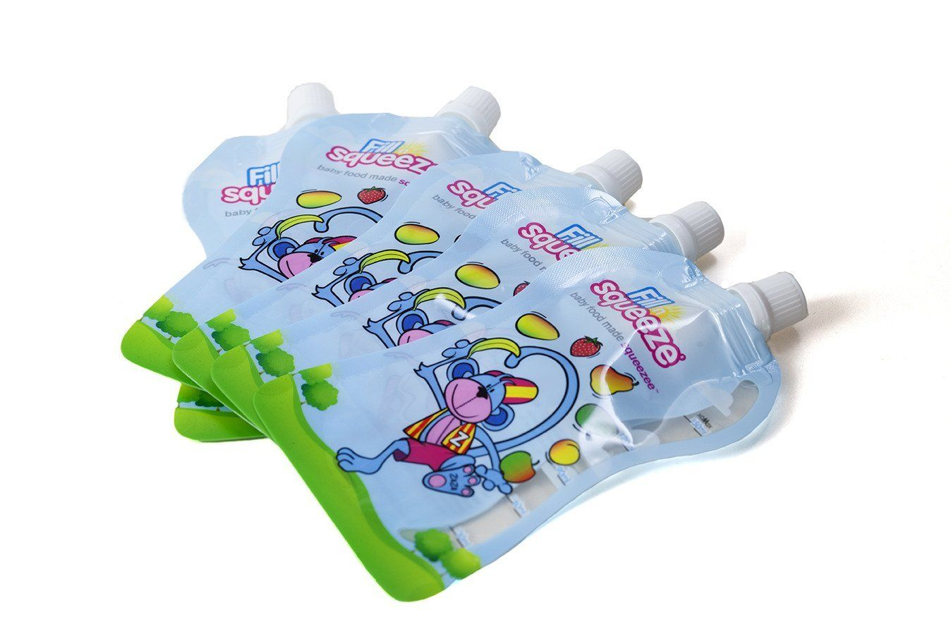 Fill n squeeze squeezee pouches pack of 40 pouches