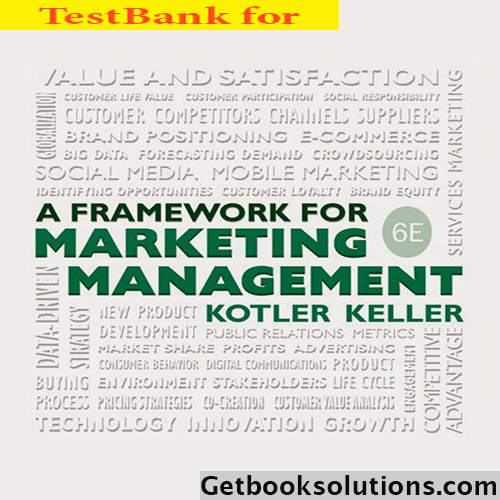 kotler keller test bank Title: test bank for principles of marketing 13th edition by kotler edition: 13th edition isbn-10: 0136079415 isbn-13: 978-0136079415 todays marketing challenge is creating vibrant, interactive communities of consumers who make products and brands a part of their daily lives.
