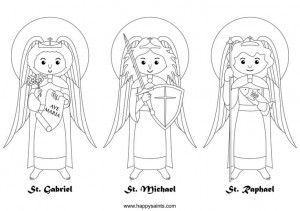 Happy Feast Of The Archangels Little Ways Sacrifice Beads Archangels Saint Coloring Coloring Pages