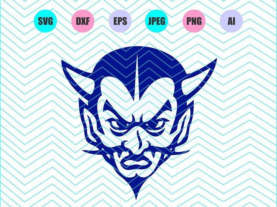 Ghim trên Blue Devils Logo Svg Dxf Eps Png Jpg Ai Cut