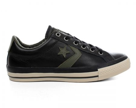 converse star player leather black