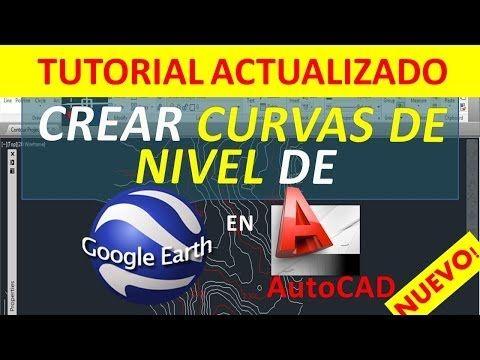 Aprender a Crear Curvas de nivel de Google Earth en AutoCAD [Video Tutorial] | CivilGeeks.com
