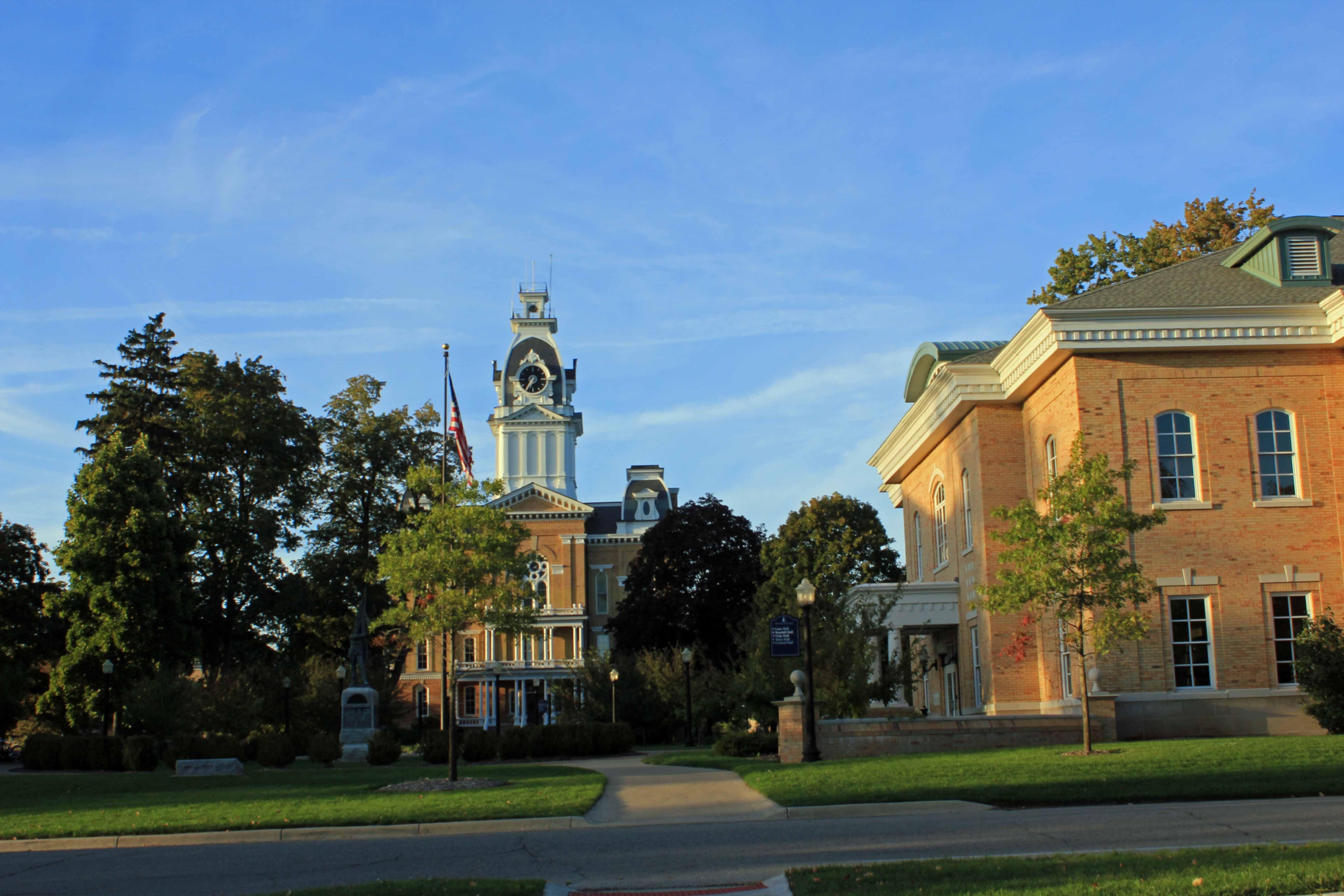 Great shot of campus Hillsdale Hillsdale michigan