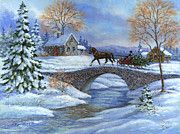 www.rdewolfe.com....Nothing could be more romantic than taking a sleigh ride to bring home 'This Year's Tree'. A painting by Richard De Wolfe.