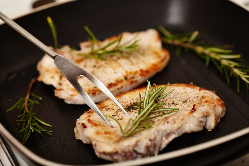 An Unbelievably Simple & Succulent Main Dish That Is SimmeredWith Sherry & Roasted In One Pan! This Is One Seriously Tantalizing Pork Chop Recipe! Pork chops are a classic dinnertime