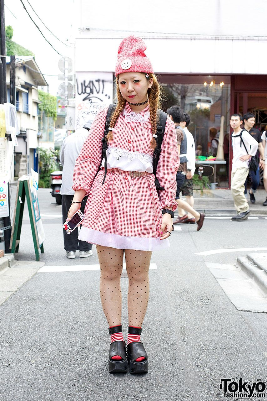 Indie Japanese Fashion Designer Ririan Wearing A Cute