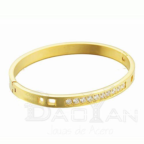 53838f1da362 brazaletes de cobre limpios modelos de pulseras doradas con circones de  joyas de moda