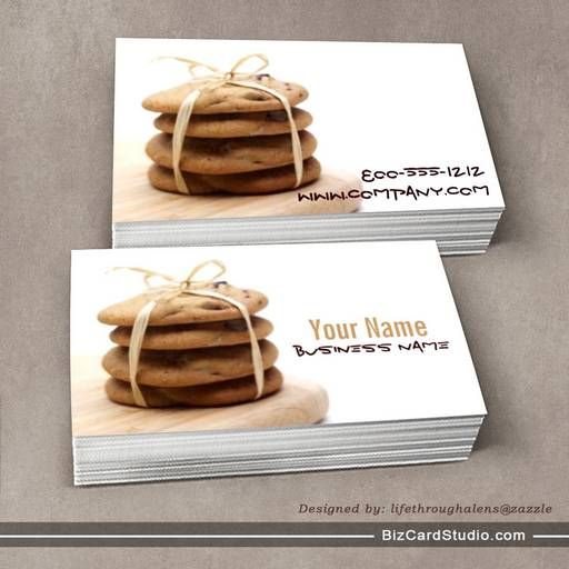 Chocolate chip cookies business cards bakery business cards chocolate chip cookies business cards colourmoves Gallery