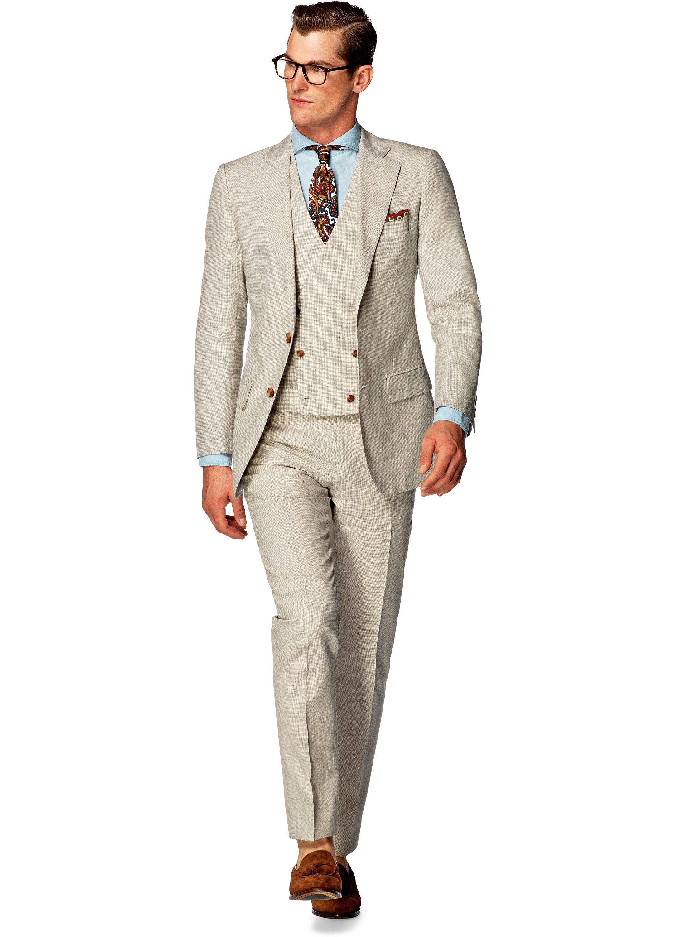 Suit Light Brown Check Lazio P4248i | Suitsupply Online Store ...