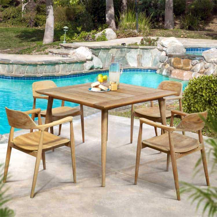 Mid Century Modern Teak Patio Dining Arm Chair Lara Teak Patio Furniture Teak Outdoor Furniture Teak Garden Furniture Teak Garden Furniture Teak Patio Furniture Teak Outdoor Furniture
