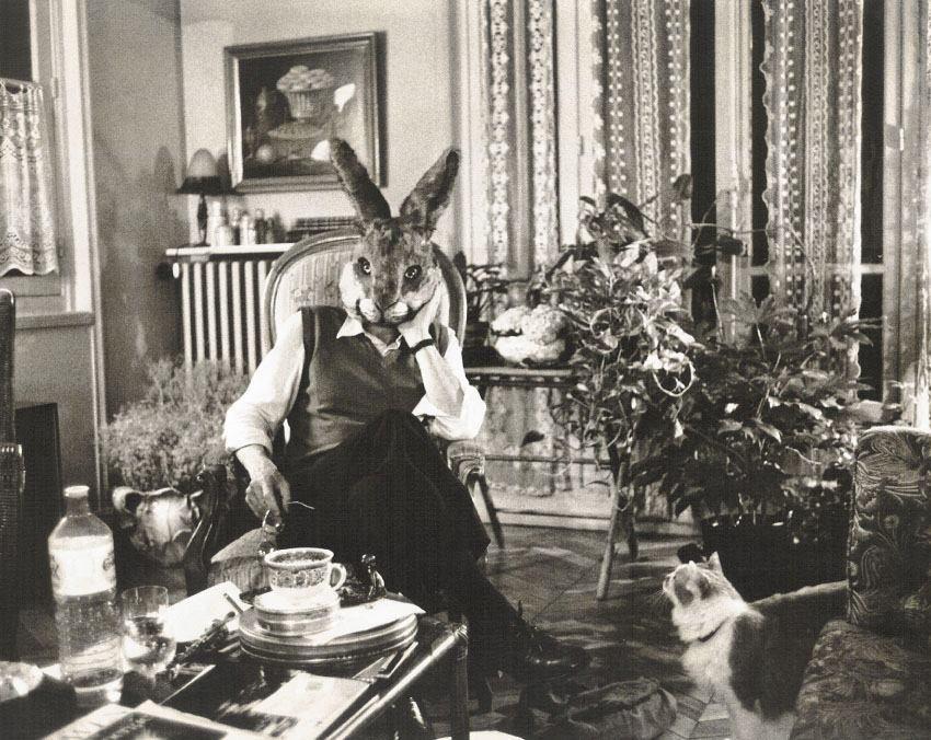 Paul Ickovic, Robert Delpire as Rabbit, Paris, 1986.