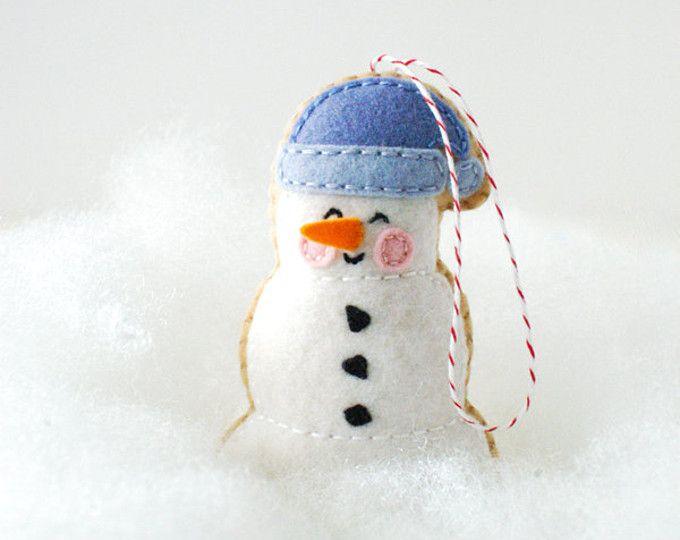 PDF el patrón - muñeco de nieve de malvavisco, Kawaii navidad ...