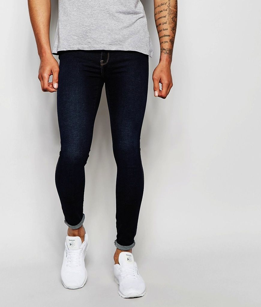 Shop Dr Denim Jeans Dixy Low Waist Extreme Skinny Fit Dark Blue Wash at ASOS .