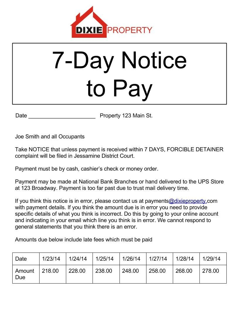 7-Day-Notice-to-Pay.jpg - eviction form | Legal Documents ...
