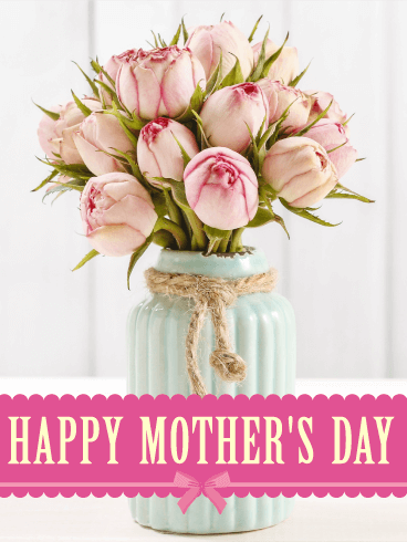 Pretty Pink Roses Happy Mother S Day Card Birthday Greeting Cards By Davia Happy Mothers Day Pictures Happy Mother S Day Card Happy Mothers Day Images