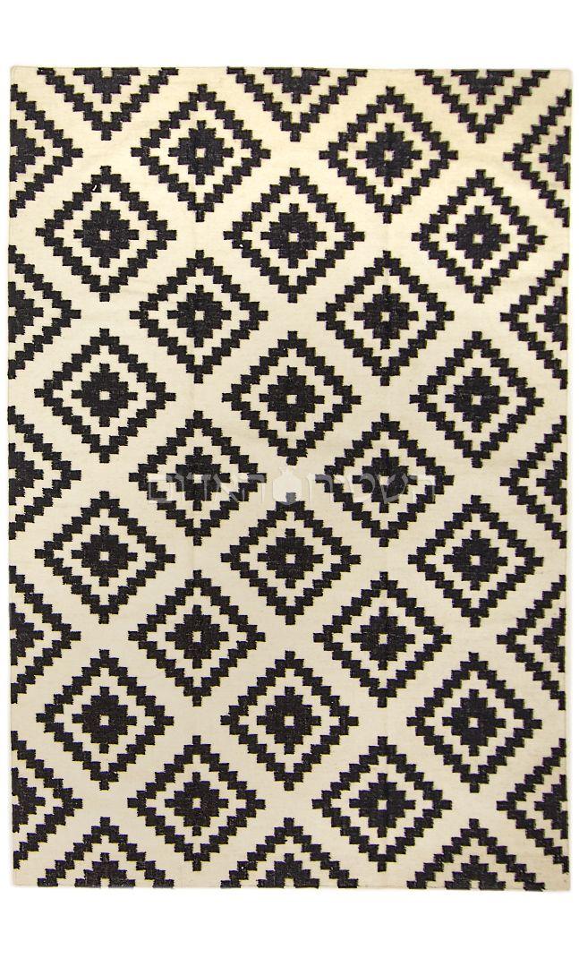 Black White Rug Handmade Geometric Kilim Carpet Kilim Rug Geometric Geometric Kilim Carpet Handmade