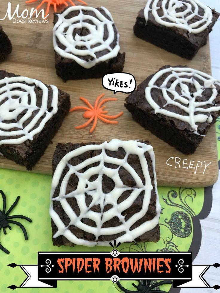 Easy-to-Make Spider Brownies #FunHalloween18 #halloweenbrownies