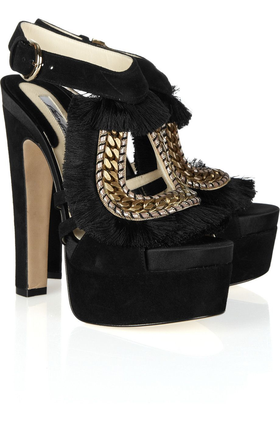 184d84b29a2b WANT WANT WANT! BRIAN ATWOOD Blanco fringe and chain-trimmed suede ...