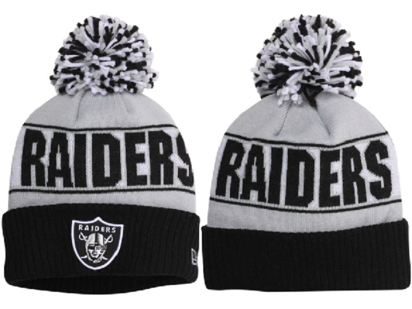 89e1797c NFL Oakland Raiders Beanie Gray Black   NFL Beanies Knit Hats ...