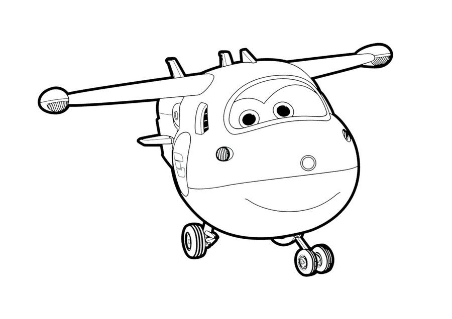 Super Wings Cartoon coloring pages Coloring pages