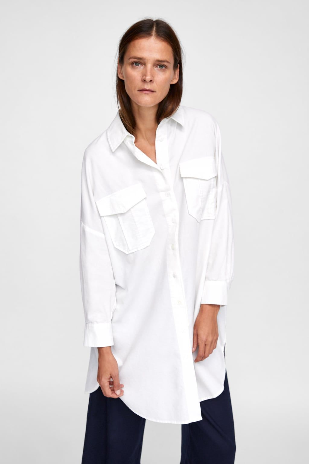 6a058088cec9e Image 2 of FINE CORDUROY SHIRT DRESS from Zara
