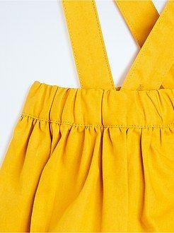 Meisjes jurkjes - Rok twill met bretels - Kiabi