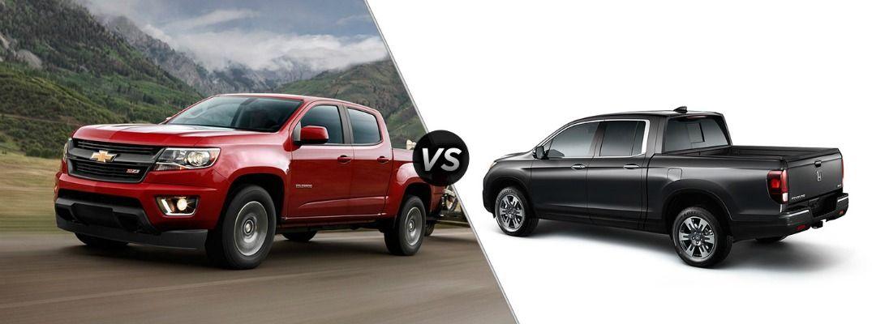 2016 Chevy Colorado vs 2017 Honda Ridgeline Chevy